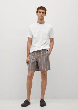 Комплект пижама из хлопка - Cipro-i Mango. Цвет: коричневый