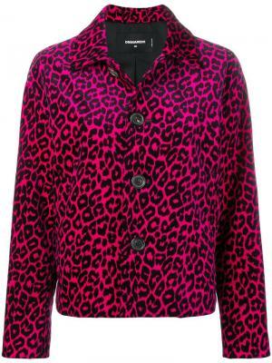 Куртка с леопардовым принтом Dsquared2