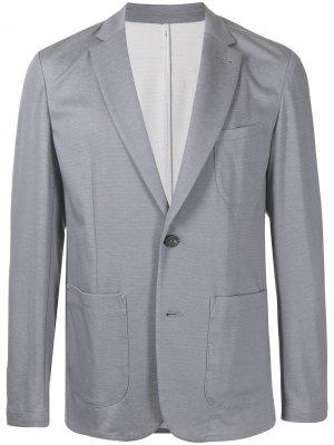 Durban однобортный пиджак из джерси D'urban. Цвет: серый