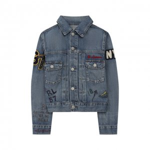 Джинсовая куртка Polo Ralph Lauren. Цвет: синий