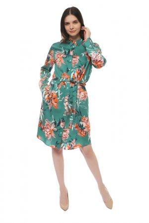 Платье Gant. Цвет: jade green