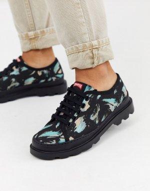Черные туфли на шнуровке Brutus-Черный Camper