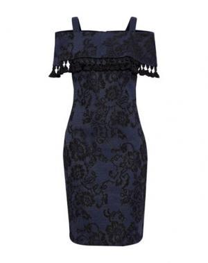 Платье до колена BADGLEY MISCHKA. Цвет: темно-синий