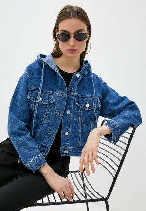 Куртка джинсовая TrendyAngel. Цвет: синий