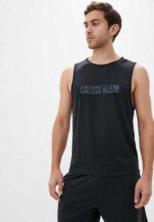Майка спортивная Calvin Klein Performance. Цвет: черный
