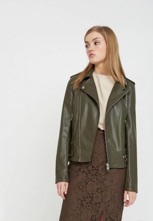 Куртка кожаная Lime. Цвет: хаки