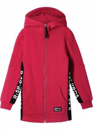 Куртка трикотажная для мальчика bonprix. Цвет: красный
