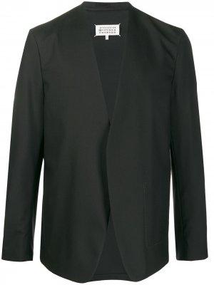 Пиджак без воротника Maison Margiela. Цвет: черный