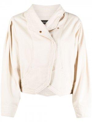 Джинсовая куртка с запахом Isabel Marant. Цвет: нейтральные цвета