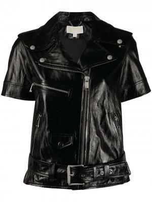 Байкерская куртка с короткими рукавами Michael Kors. Цвет: черный