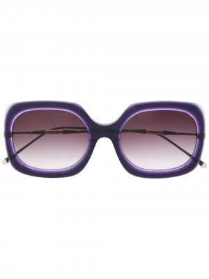 Солнцезащитные очки M2035 в квадратной оправе Matsuda. Цвет: фиолетовый