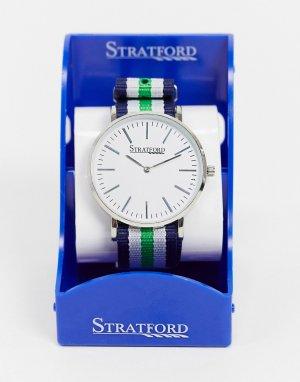 Часы в стиле милитари -Серебряный Stratford