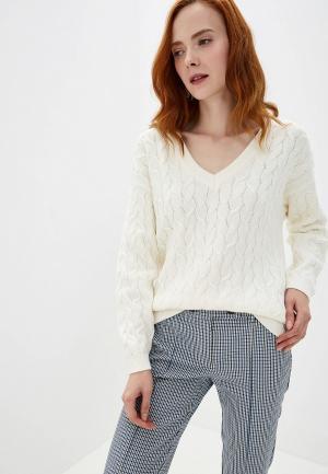 Пуловер Vila. Цвет: белый