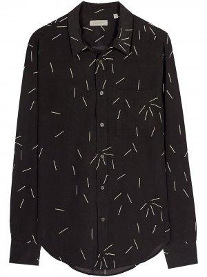 Рубашка кроя слим с принтом EQUIPMENT GENDER FLUID. Цвет: черный