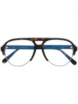 Очки-авиаторы Brioni. Цвет: коричневый