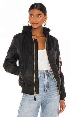 Куртка бомбер ma-1 ALPHA INDUSTRIES. Цвет: черный
