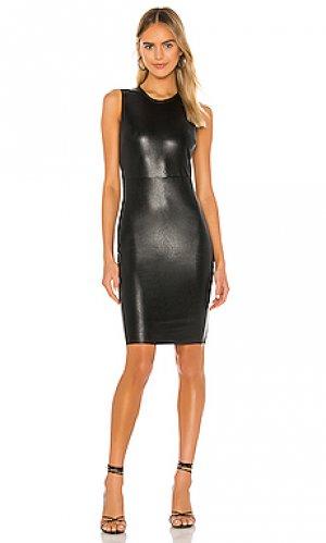 Мини платье faux leather Commando. Цвет: черный