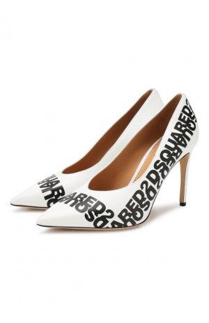 Кожаные туфли Dsquared2. Цвет: белый