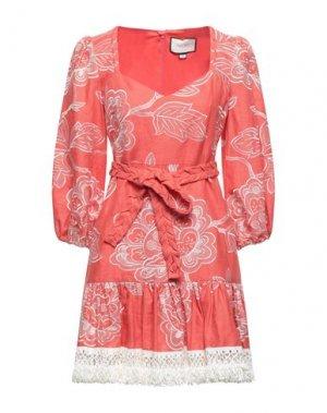 Короткое платье ALEXIS. Цвет: лососево-розовый