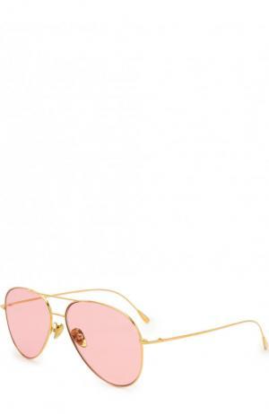 Солнцезащитные очки Cutler and Gross. Цвет: золотой