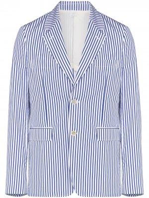 Пиджак в полоску Comme Des Garçons Shirt. Цвет: белый