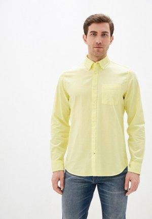 Рубашка Gap. Цвет: желтый