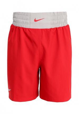 Шорты спортивные Nike BOXING SHORT. Цвет: красный