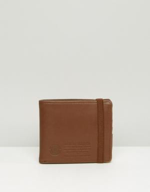 Кожаный бумажник Endure Element. Цвет: коричневый