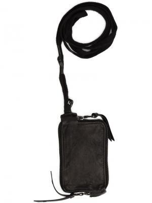 Кошелек на молнии с завязками 11 By Boris Bidjan Saberi. Цвет: чёрный