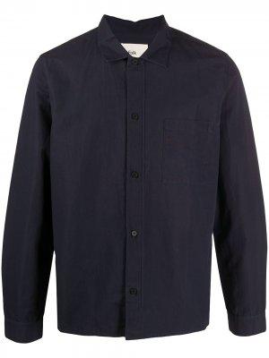 Рубашка с карманом Folk. Цвет: синий