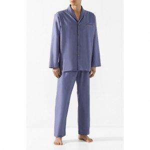 Хлопковая пижама Zimmerli. Цвет: синий