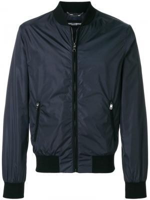 Классическая куртка-бомбер Dolce & Gabbana. Цвет: черный