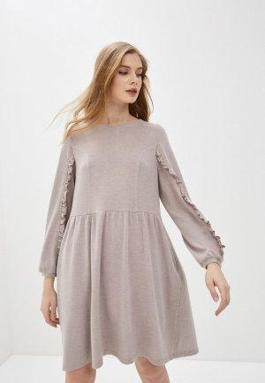 Платье Forus. Цвет: бежевый