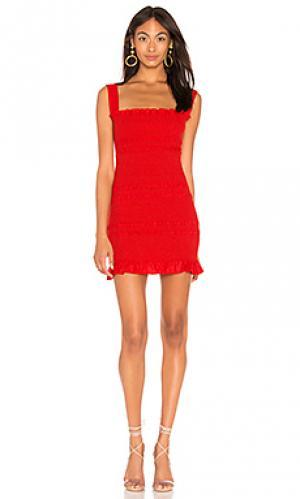 Платье viviane Capulet. Цвет: красный