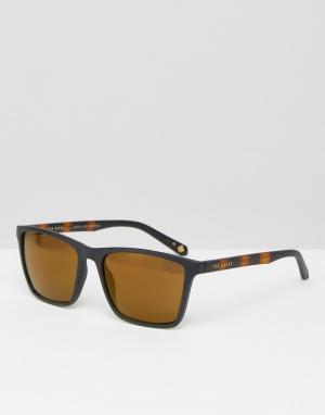 Квадратные солнцезащитные очки Ted Baker. Цвет: черный