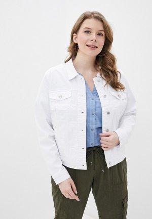 Куртка джинсовая Vero Moda Curve. Цвет: белый