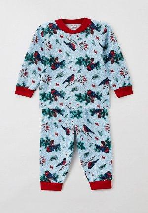 Пижама Youlala. Цвет: голубой