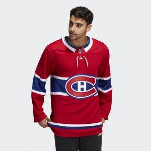 Оригинальный хоккейный свитер Canadiens Home Performance adidas. Цвет: красный