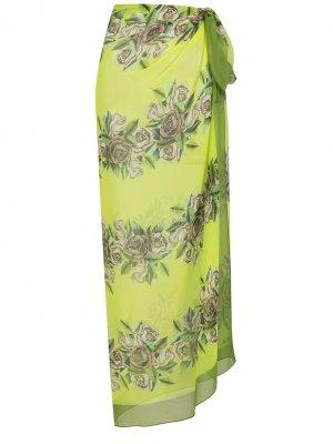 Саронг с цветочным принтом Amir Slama. Цвет: зеленый