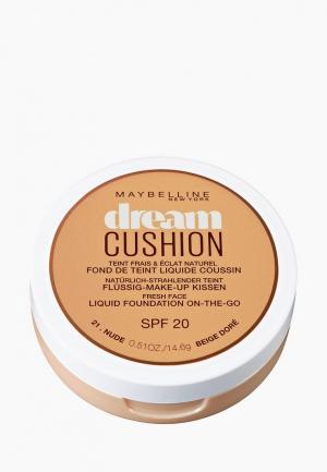 Тональное средство Maybelline New York кушон Dream Cushion, увлажняющий, оттенок 21, Nude, SPF 20,14,6 гр. Цвет: бежевый