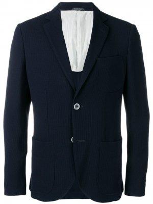 Классический костюмный пиджак Giorgio Armani. Цвет: синий