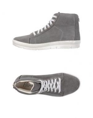 Высокие кеды и кроссовки HENNE. Цвет: серый