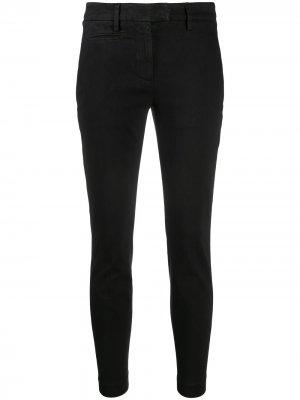 Slim-fit cropped trousers Dondup. Цвет: черный