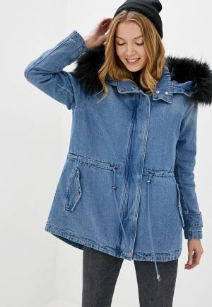 Парка Guess Jeans. Цвет: синий