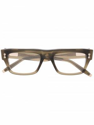 Солнцезащитные очки Leo в квадратной оправе Akoni. Цвет: зеленый
