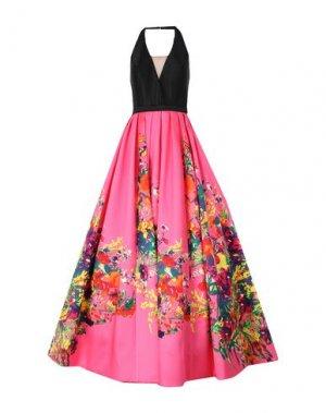 Длинное платье MIKAEL. Цвет: фуксия
