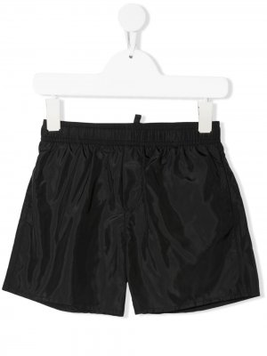Плавки-шорты с логотипом Dsquared2 Kids. Цвет: черный