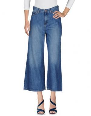 Джинсовые брюки-капри DR. DENIM JEANSMAKERS. Цвет: синий