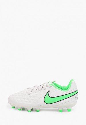 Бутсы Nike JR LEGEND 8 CLUB FG/MG. Цвет: белый