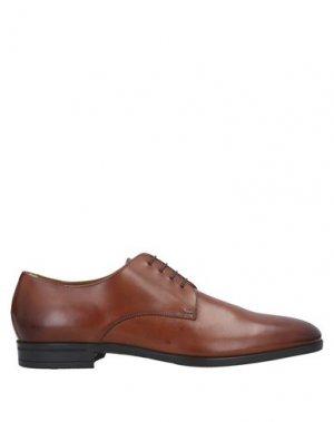 Обувь на шнурках BOSS HUGO. Цвет: коричневый